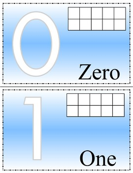 Numbers 0-10 Tens-frame  Playdoh Mats - Learning Center Kit