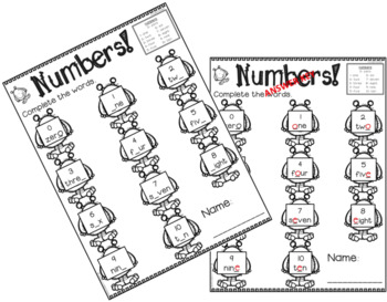 Numbers 0-10 Variety Fun Pack in English for Emergent Readers/ESL/ELA