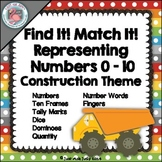 Number Sense Activity 0-10 Construction Theme