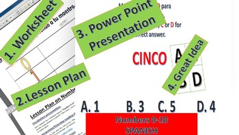 Numbers 0-10 Worksheet with Power Point and lesson plan