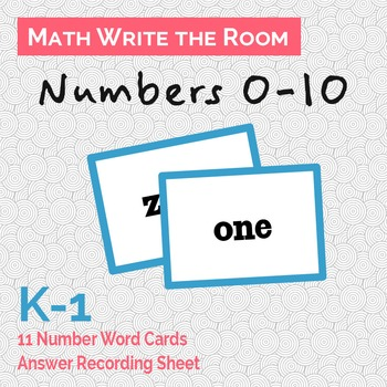 Numbers 0-10 Write the Room