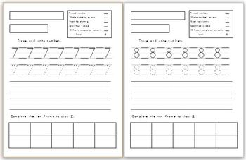 Numbers 0-10 writing, drawing and 10 frame practice!