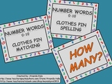Numbers 0-10 (counting & words) Clothes Pin Activities