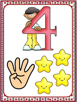 Numbers 0-10 flashcards posters FREE