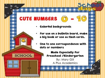 Numbers 0 - 10 for display or centers