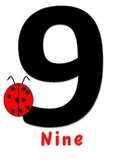 Numbers 0-10 with ladybugs for Bulletin Boards