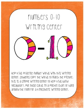 Numbers 0-10 writing center