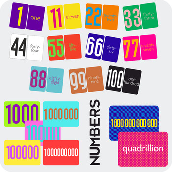 numbers 1 100 flash cards