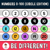 Numbers 0-100 Clipart (Circle Edition)