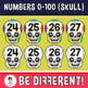 Numbers 0-100 Clipart (Skull)