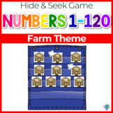 Numbers 0-120 Hide & Seek Pocket Chart Cards | Chicken/Farm Theme