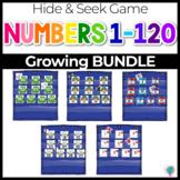 Numbers 0-120 Hide & Seek Pocket Chart Cards |BUNDLE