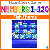 Numbers 0-120 Hide & Seek Pocket Chart Cards | Fish Theme
