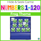 Numbers 0-120 Hide & Seek Pocket Chart Cards | Frog Theme