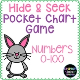 Numbers 0-100 Hide and Seek Pocket Chart Game - Easter