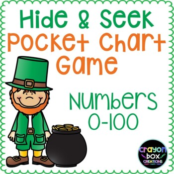 Numbers 0-100 Hide and Seek Pocket Chart Game - Leprechaun's Gold