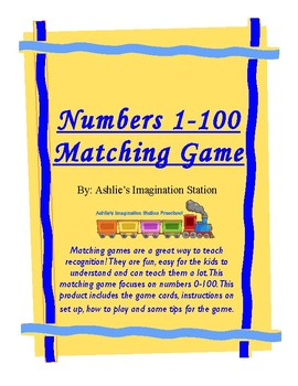 Numbers 0-100 Matching Game