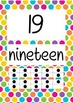 Numbers 0-100 Posters with Number, Word and Ten Frame