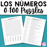 Spanish Numbers 0-100 Word Scramble and Word Search