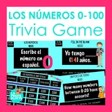 Numbers 0-100 in Spanish Jeopardy-Style Trivia Game