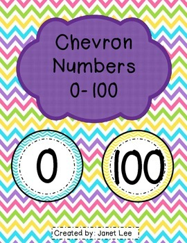 Numbers 0-100 with Chevron Theme