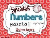 Numbers 1-1,000,000 Spanish Baseball Game