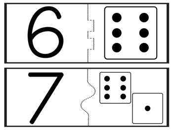 Numbers 0-12 matching