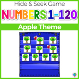 Numbers 0-120 Hide & Seek Pocket Chart Cards   Apple Tree Theme