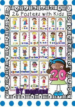 Numbers 0-20 (52 Posters for the Classroom)