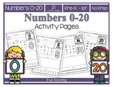 Numbers 0-20 Activity Pages