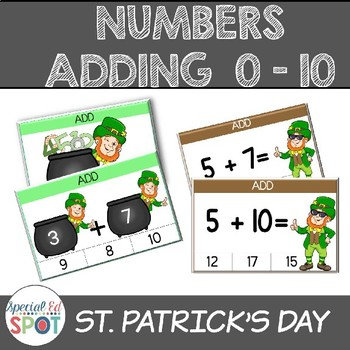 Numbers 0-10  Adding Basic Facts for St. Patrick's Day