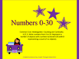 Numbers 0-20 Aligned to Common Core *Bonus 21-30 included*