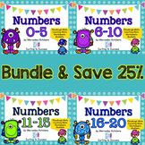 Numbers 0-20 BUNDLE Playdough Mat, Worksheets, Counting Ma