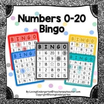 Numbers 0-20 Bingo