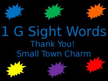 1G Sight Word BOOM