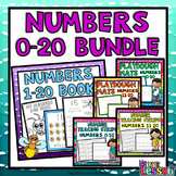 Numbers 0-20 Bundle: Worksheets, Number Posters, Tracing Strips, Playdough Mats