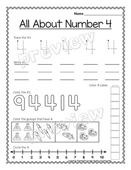 Numbers 0-20 Games and Writing Bundle