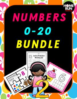 Numbers 0-20 Bundle, Number Recognition, Number Correspondence