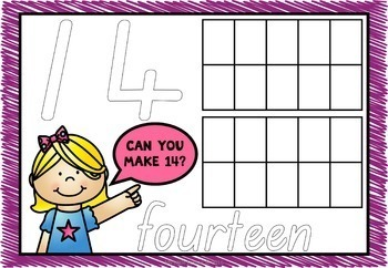 Numbers 0-20 Bundle QLD Beginners Font: Worksheets, Posters, Activities