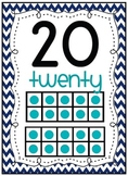 Numbers 0-20 Classroom Display with Ten Frames