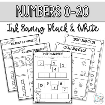 Math Pack for Kindergarten. Counting and Cardinality Numbers 0 - 20.
