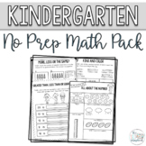 Kindergarten Math Pack. Counting and Cardinality Numbers 0 - 20- No Prep