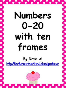 Numbers 0-20 Display Posters with Ten Frame (Pink)