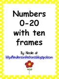 Numbers 0-20 Display Posters with ten frames- Yellow Polka Dot