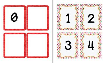 Numbers 0-20 Flashcards MACC.K.CC.A.3