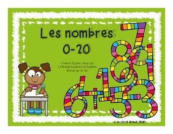 Les nombres 0-20 - French Number Puzzles