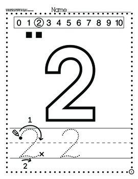 Numbers 0-20, Handwriting