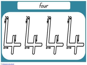 Numbers 0-20 Handwriting Mats