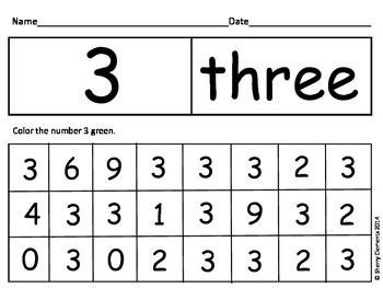 Numbers 0-20 Hide and Seek