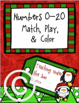 Numbers 0 - 20, Counting, Christmas, Penguins, Winter, Center